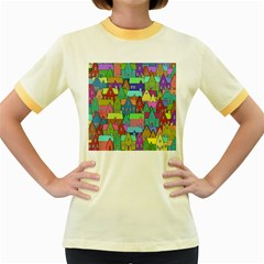 Neighborhood In Color Women s Fitted Ringer T Shirts
