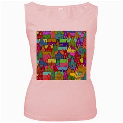Neighborhood In Color Women s Pink Tank Top