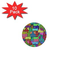 Neighborhood In Color 1  Mini Buttons (10 pack)