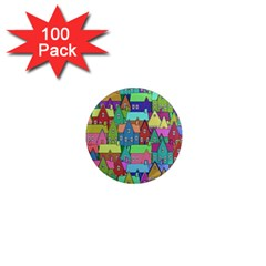 Neighborhood In Color 1  Mini Magnets (100 pack)