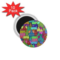 Neighborhood In Color 1 75  Magnets (10 Pack)