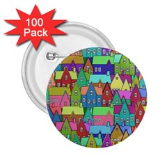 Neighborhood In Color 2 25  Buttons (100 Pack)