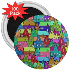 Neighborhood In Color 3  Magnets (100 pack)