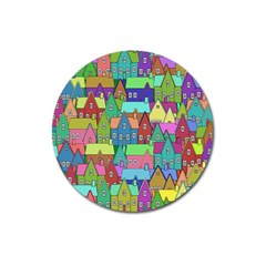 Neighborhood In Color Magnet 3  (Round)