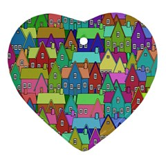 Neighborhood In Color Heart Ornament (Two Sides)