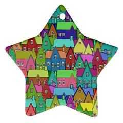 Neighborhood In Color Star Ornament (two Sides)
