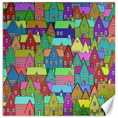 Neighborhood In Color Canvas 12  x 12