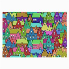 Neighborhood In Color Large Glasses Cloth