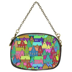 Neighborhood In Color Chain Purses (two Sides)