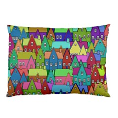 Neighborhood In Color Pillow Case (two Sides)