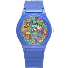 Neighborhood In Color Round Plastic Sport Watch (s)