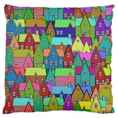 Neighborhood In Color Large Cushion Case (two Sides)