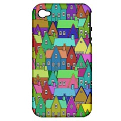 Neighborhood In Color Apple Iphone 4/4s Hardshell Case (pc+silicone)