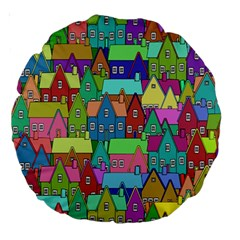 Neighborhood In Color Large 18  Premium Round Cushions