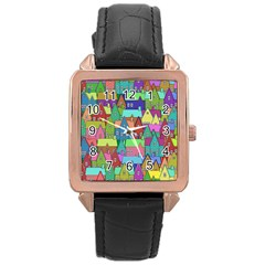 Neighborhood In Color Rose Gold Leather Watch