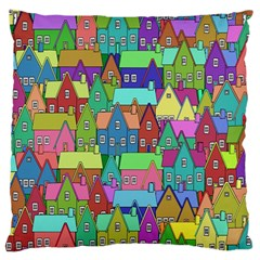Neighborhood In Color Large Flano Cushion Case (One Side)