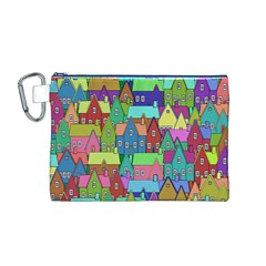 Neighborhood In Color Canvas Cosmetic Bag (M)