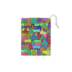 Neighborhood In Color Drawstring Pouches (XS)