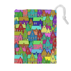 Neighborhood In Color Drawstring Pouches (Extra Large)