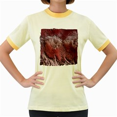 Texture Background Women s Fitted Ringer T Shirts