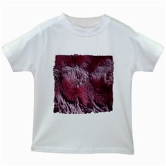 Texture Background Kids White T Shirts