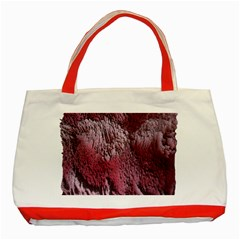 Texture Background Classic Tote Bag (Red)