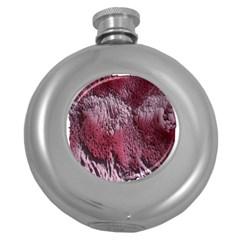 Texture Background Round Hip Flask (5 Oz)