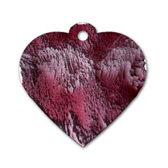 Texture Background Dog Tag Heart (One Side)