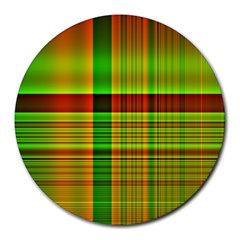 Multicoloured Background Pattern Round Mousepads