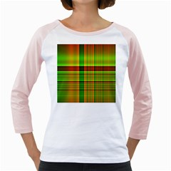 Multicoloured Background Pattern Girly Raglans