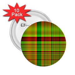 Multicoloured Background Pattern 2 25  Buttons (10 Pack)