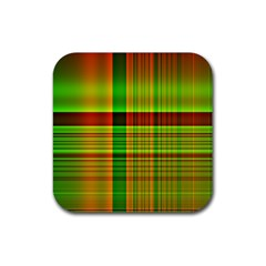 Multicoloured Background Pattern Rubber Square Coaster (4 pack)