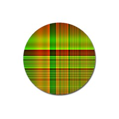 Multicoloured Background Pattern Magnet 3  (Round)