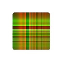 Multicoloured Background Pattern Square Magnet