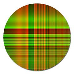 Multicoloured Background Pattern Magnet 5  (round)
