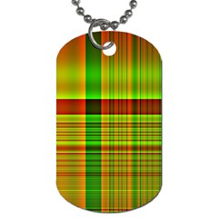 Multicoloured Background Pattern Dog Tag (two Sides)