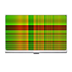 Multicoloured Background Pattern Business Card Holders