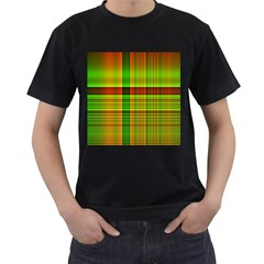 Multicoloured Background Pattern Men s T-Shirt (Black) (Two Sided)