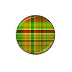 Multicoloured Background Pattern Hat Clip Ball Marker