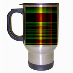 Multicoloured Background Pattern Travel Mug (Silver Gray)