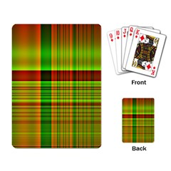 Multicoloured Background Pattern Playing Card