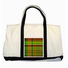 Multicoloured Background Pattern Two Tone Tote Bag