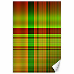 Multicoloured Background Pattern Canvas 24  x 36