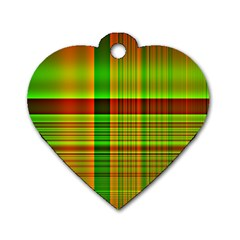 Multicoloured Background Pattern Dog Tag Heart (one Side)
