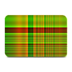 Multicoloured Background Pattern Plate Mats