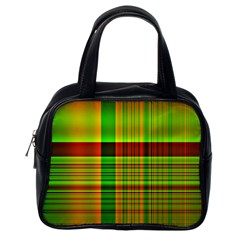 Multicoloured Background Pattern Classic Handbags (One Side)