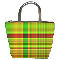 Multicoloured Background Pattern Bucket Bags