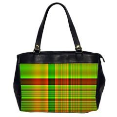 Multicoloured Background Pattern Office Handbags (2 Sides)