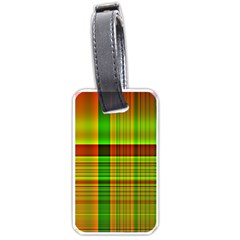 Multicoloured Background Pattern Luggage Tags (two Sides)