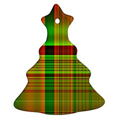 Multicoloured Background Pattern Christmas Tree Ornament (two Sides)